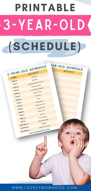 printable 3-year-old schedule