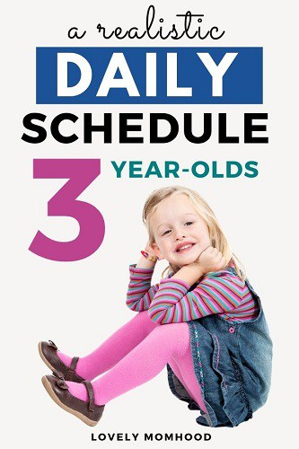 daily schedule for 3 year olds