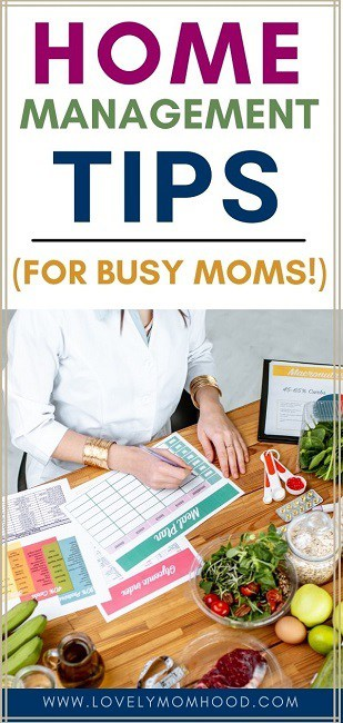 home management tips for moms