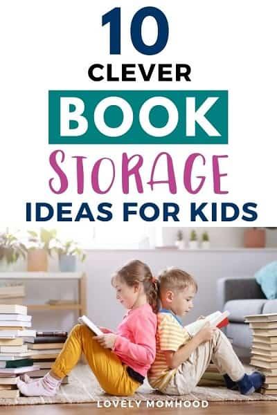 books storage ideas for kids